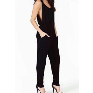 Nasty Gal Jumpsuit Deep Plunge Sides with Pockets